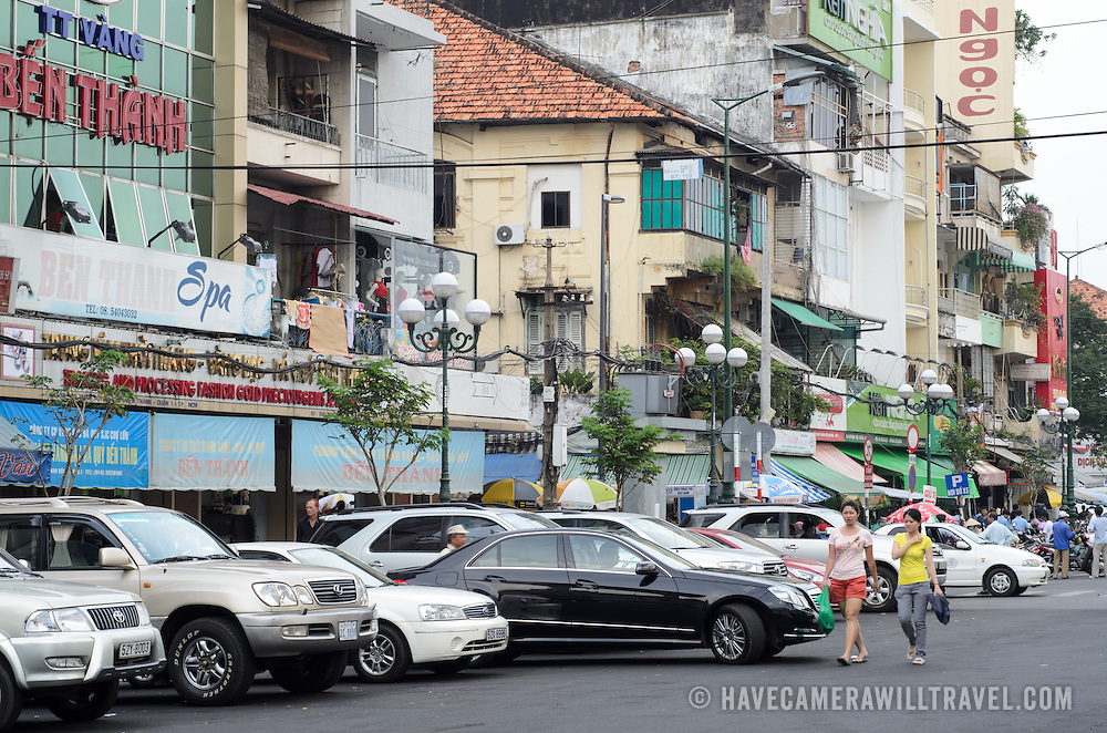 A street in the Cho Lon in Ho Chi Minh City (Saigon), Vietnam.