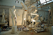 Oudenaarde, Belgium, Jun 06, 2009, Johan TAHON at work .©Christophe VANDER EECKEN Work by or related to Johan Tahon