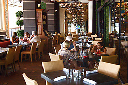 October 7, 2016 - West Palm Beach, Florida, U.S. - City Cellar in City Place was the first restaurant open on Friday, October 7, 2016, after Hurricane Matthew brushed the Palm Beach coastline. (Credit Image: © Joe Forzano/The Palm Beach Post via ZUMA Wire)