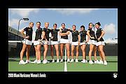 2009 Miami Hurricanes Women's Tennis Team Photo