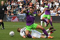Football - 2018 / 2019 Sky Bet EFL Championship - Swansea City vs. Bristol City<br /> <br /> Jay Fulton of Swansea City & Josh Brownhill of Britol City collide , at Liberty Stadium.<br /> <br /> COLORSPORT/WINSTON BYNORTH