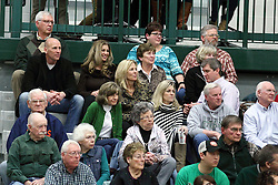 21 February 2015:  Dennie Bridges family during an NCAA women's division 3 CCIW basketball game between the Elmhurst Bluejays and the Illinois Wesleyan Titans in Shirk Center, Bloomington IL