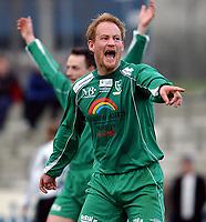 Fotball 2. div. 02.05.05, RBK 2 - Innstranden,<br /> Thomas Schønning<br /> Foto: Carl-Erik Eriksson, Digitalsport