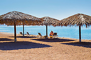 Holidaymakers on Eilat Beach, Israel