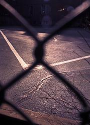 Urban city playground fence baseball outline CONCEPT STOCK PHOTOS