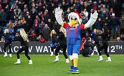 Crystal Palace mascot Pete the Eagle on the pitch during the Premier League match at Selhurst Park, London.