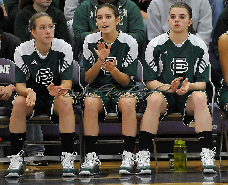 Elyria Catholic vs Lorain in high school girls basketball action on November 26, 2010. © David Richard