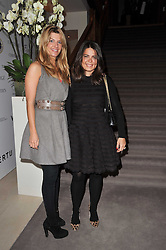 Left to right, INGE THERON and DANIELLA ISSA HELAYEL at a cocktail party and auction to launch the forthcoming celebrations for Mikhail Gorbachev's 80th birthday held at Christie's, 8 King Street, London on 3rd February 2011.