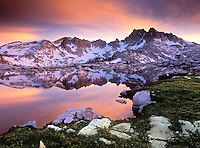 Silver Pass and Chief Lake along the  John Muir Trail, Sierra Nevada CA