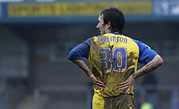 Photo: Lee Earle.<br /> Torquay United v Hartlepool United. Coca Cola League 2. 17/02/2007.Torquay's Mark Robinson looks dejected after going close late on in the game.