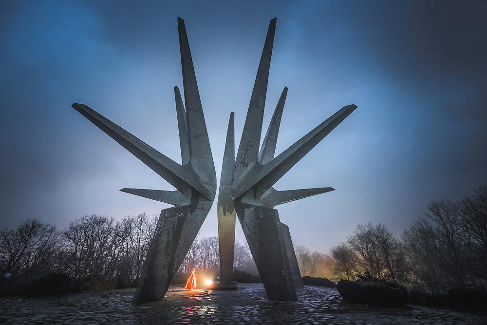 Monument to Kosmaj partisan division from WWII on top of Kosmaj mountain, near Belgrade, Serbia.