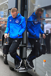 Everton's Wayne Rooney arriving ahead of the Premier League match at the AMEX Stadium, Brighton.