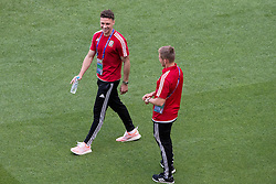 LYON, FRANCE - Tuesday, July 5, 2016: Wales' James Chester during a training session ahead of their UEFA Euro 2016 Championship Semi-Final match against Portugal at the Stade de Lyon. (Pic by Paul Greenwood/Propaganda)