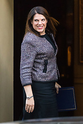 London, January 16 2018. Caroline Nokes Minister of State (Minister for Immigration) attends the UK cabinet meeting at Downing Street. © Paul Davey