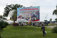 At the airport in Wewak, Papua New Guinea, a billboard features Sir Michael Somare, called the Founding Father of Papua New Guinea.<br /><br />(July 21, 2017)