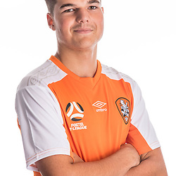 BRISBANE, AUSTRALIA - NOVEMBER 10:  Callum Harris of the Roar poses for a photo during the Brisbane Roar Youth headshot session at QUT Kelvin Grove on November 10, 2017 in Brisbane, Australia. (Photo by Patrick Kearney / Brisbane Roar)