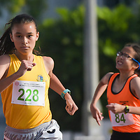 Giselle Diana Enlund (#228) of Cedar Girls' Secondary finishing strong during the 1500m C Division Girls finals. (Photo © Stefanus Ian/Red Sports)