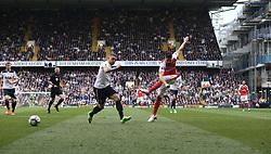 30 April 2017 London : Premier League Football : Tottenham Hotspur v Arsenal :<br /> Olivier Giroud of Arsenal shoots.<br /> Photo: Mark Leech