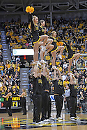 WICHITA, KS - JANUARY 05:  Wichita State Shockers cheerleaders perform during a game against the Northern Iowa Panthers during the first half on January 5, 2014 at Charles Koch Arena in Wichita, Kansas.  (Photo by Peter G. Aiken/Getty Images) *** Local Caption ***