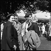 R.D.S. Horse Show, Tuesday, Prince and Princess de Ligne of Belgium at R.D.S..08.08.1961