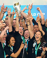 Twickenham Stoop, London, England - Sunday 9th September 2010: New Zealand celebrate after winning the IRB Womens Rugby World Cup Final between England and New Zealand 13-10 at The Stoop on September 9th 2010 (Photo by Andrew Tobin/Focus Images)