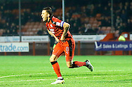 Crawley Town midfielder Jimmy Smith (8) celebrates his goal to make it 3-1 during the EFL Sky Bet League 2 match between Crawley Town and Newport County at the Checkatrade.com Stadium, Crawley, England on 17 December 2016. Photo by Andy Walter.