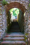 Steps in Ravello. Amalf Coast, Italy