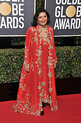 Zenobia Shroff at the 75th Golden Globe Awards held at the Beverly Hilton in Beverly Hills, CA on January 7, 2018.<br /><br />(Photo by Sthanlee Mirador)