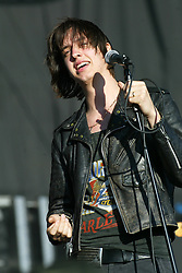 Julian Casablancas of The Strokes on the main stage..T in the Park, Sunday 2006..©Michael Schofield..