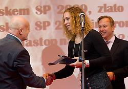 Marjan Hudej, Barbara Spiler and Dr. Peter Kukovica during the Slovenia's Athlete of the year award ceremony by Slovenian Athletics Federation AZS, on November 12, 2008 in Hotel Mons, Ljubljana, Slovenia.(Photo By Vid Ponikvar / Sportida.com) , on November 12, 2010.