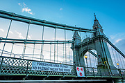 Hammersmith, Greater London, UK., 18th October 2020, general view, Hammersmith Bridge, COVID-19,  [Mandatory Credit: Pete Spurrier/Intersport Images],