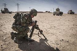 October 21, 2016 - Peshmerga mortanrman is preparing to fire Khorsabad. (Credit Image: © Bertalan Feher via ZUMA Wire)