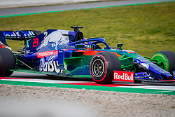 February 19, 2019 - Montmelo, Barcelona, Spain - Barcelona-Catalunya Circuit, Montmelo, Catalonia, Spain - 19/02/2018: Alex Albon of Scuderia Toro Rosso Honda with the new STR14 car during second journey of F1 Test Days in Montmelo circuit. (Credit Image: © Javier Martinez De La Puente/SOPA Images via ZUMA Wire)