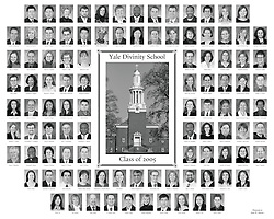 2005 Yale Divinity School Senior Portraits Composite Photograph