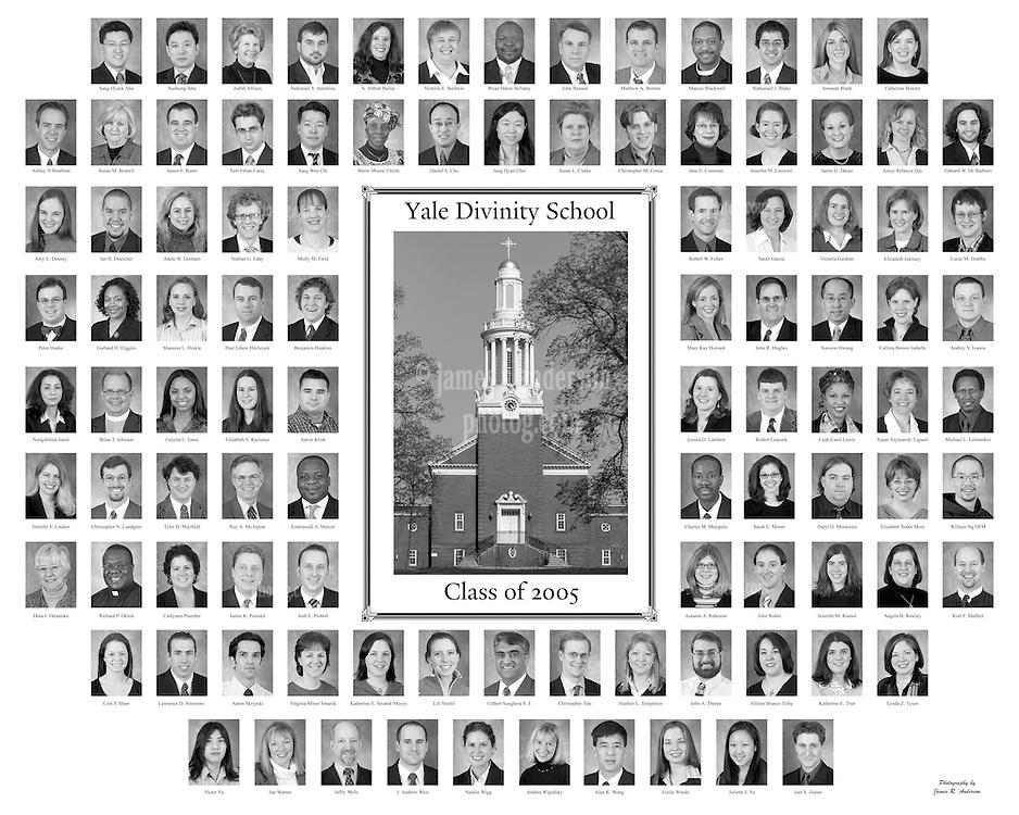 2005 Yale Divinity School Senior Portraits Composite Photograph