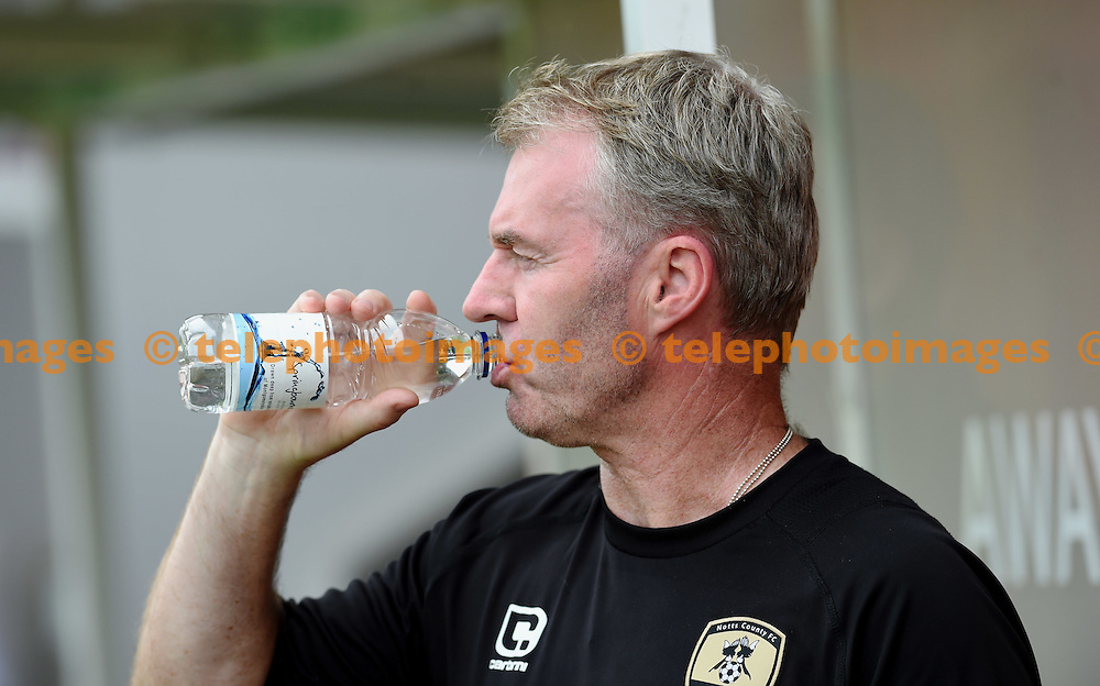 Notts County manager John Sheridan during the Sky Bet League 2 match between Crawley Town and Notts County at the Checkatrade Stadium in Crawley. August 27, 2016.<br /> Simon  Dack / Telephoto Images<br /> +44 7967 642437