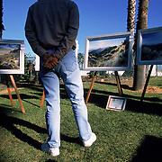 The weekend art walk along Cabrillo Blvd in Santa Barbara, CA.