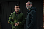 COLUMBIA, MD -- 12/20/14 -- Mark Johnson-Lewis, 48, and his son, Tyler Lewis, 22, talk about the complexity of being a biracial family..…by André Chung #_AC23105