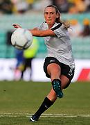 Annalie Longo warms up at the Cup of Nations Women's Football match, New Zealand Football Ferns v Matildas, Leichhardt Oval, Thursday 28th Feb 2019. Copyright Photo: David Neilson / www.photosport.nz