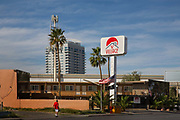 Low rent motel, Village, downtown on South Las Vegas Boulevard