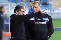 Fotball eliteserien 17.04.05 Molde - Start 0-1<br /> Tom Nordli og Erik Solér<br /> Foto: Carl-Erik Eriksson, Digitalsport