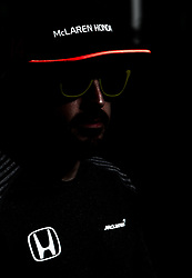 November 23, 2017 - Abu Dhabi, United Arab Emirates - Fernando Alonso of Spain and McLaren Honda Team driver gives an interview on Formula One Etihad Airways Abu Dhabi Grand Prix on Nov 23, 2017 in Yas Marina Circuit, Abu Dhabi, UAE. (Credit Image: © Robert Szaniszlo/NurPhoto via ZUMA Press)