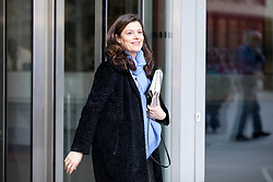 © Licensed to London News Pictures. 02/04/2017. London, UK. Miriam González Durántez leaving BBC Broadcasting House this morning. Photo credit : Tom Nicholson/LNP