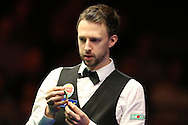 Judd Trump of England looks on.  Coral Welsh Open Snooker 2017, final match, Judd Trump of England v Stuart Bingham of England at the Motorpoint Arena in Cardiff, South Wales on Sunday 19th February 2017.<br /> pic by Andrew Orchard, Andrew Orchard sports photography.