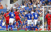 Photo: Ashley Pickering.<br /> Ipswich Town v Coventry City. Coca Cola Championship. 22/09/2007.<br /> Jason De Vos (partly obscurred) heads in the opener for Ipswich