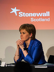 Pictured: Nicola Sturgeon<br /> <br /> Party leaders Nicola Sturgeon, Kezia Dugdale, Ruth Davidson, Willie Rennie and Patrick Harvie faced questions from the public at an LGBTI election hustings event arranged by Stonewall Scotland, LGBT youth Scotland, Equaity Network and The Scottish Equality Network at the Royal College of Surgeons of Edinburgh. Edinburgh. 31 March 2016<br /> <br /> Ger Harley   Edinburghelitemedia.co.uk