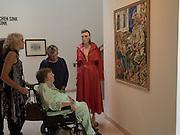 PATTI BRATBY, Patti Bratby visiting John Bratby exhibition, Jerwood Gallery. Hastings. 22 March 2016