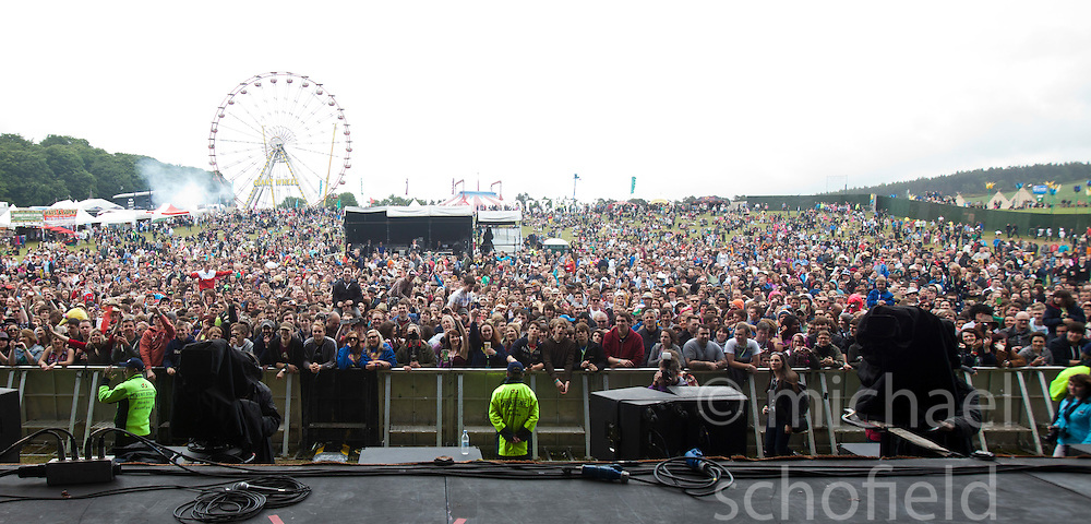 The view from the main stage..Saturday at Rockness 2012..©Michael Schofield..