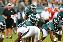 Philadelphia Eagles wide receiver DeSean Jackson #10 lines up as to take the snap during the Philadelphia Eagles NFL Flight Night at Lincoln Financial Field in Philadelphia, Pennsylvania on Sunday August 2nd 2009. (Photo by Brian Garfinkel)