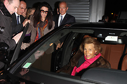 File photo - ABACAPRESS.COM - Liliane Bettencourt and her daughter leave at the 'Armani' fashion show held at Place Vendome